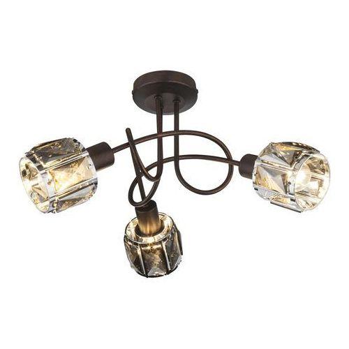 Plafon indiana 54357-3 lampa sufitowa 3x40w e14 brąz marki Globo