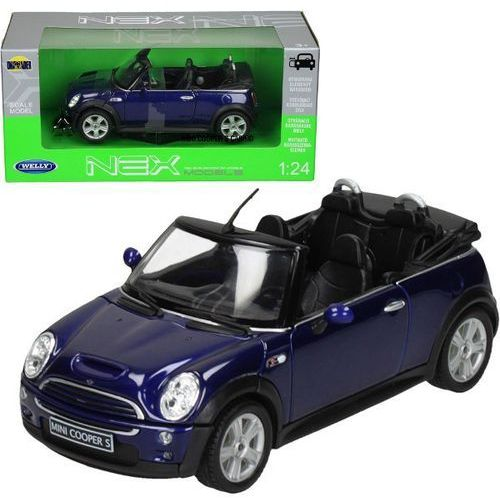 WELLY Mini Cooper S Cabr io, niebieskiMINI COOPER - Welly