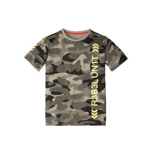 T-shirt moro khaki moro z nadrukiem marki Bonprix