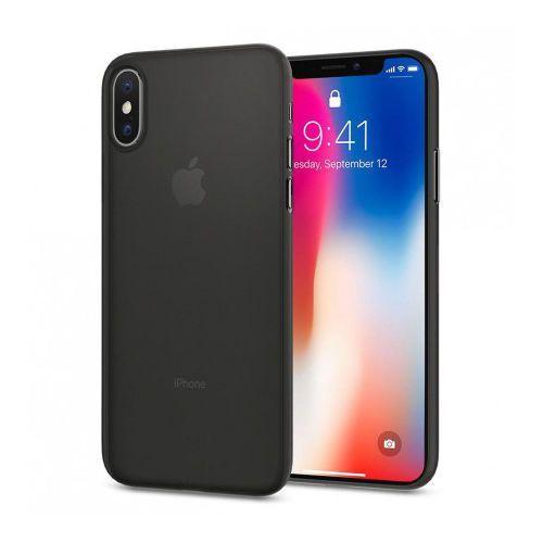 Etui Spigen Air Skin ultracienkie iPhone X czarne (8809565300110)