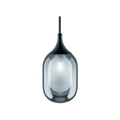 Orlicki design Lampa loftowa ovo fume s wisząca oprawa okrągły zwis szklany czarny przydymiony
