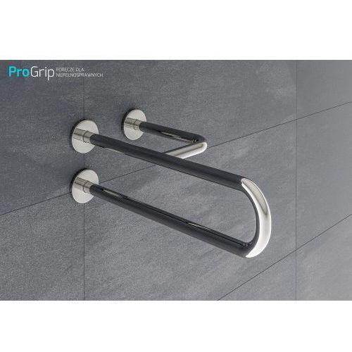 """Poręcz ścienna """"TRÓJNÓG"""" stal nierdzewna połysk Ø 25 mm, długość 500 mm, prawa, PSP/25/505P"""