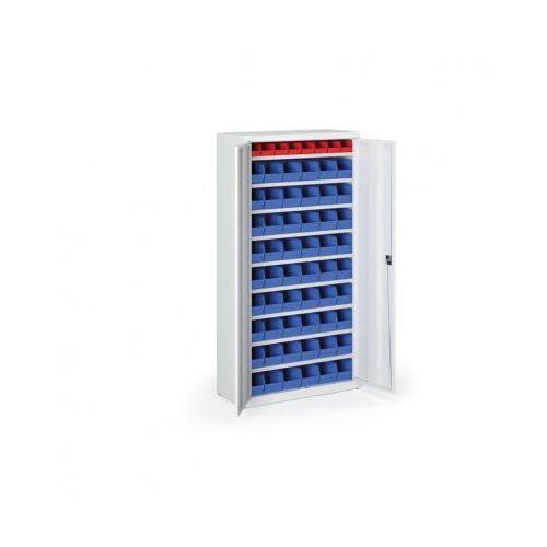 Szafa z plastikowymi pojemnikami - 1800x920x400 mm, 8x a, 54x b marki B2b partner