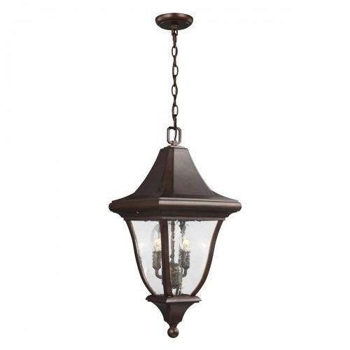 Zewnętrzna lampa ścienna oakmont fe/oakmont2/l elstead elewacyjna oprawa klasyczny kinkiet outdoor ip44 brązowa patyna marki Feiss