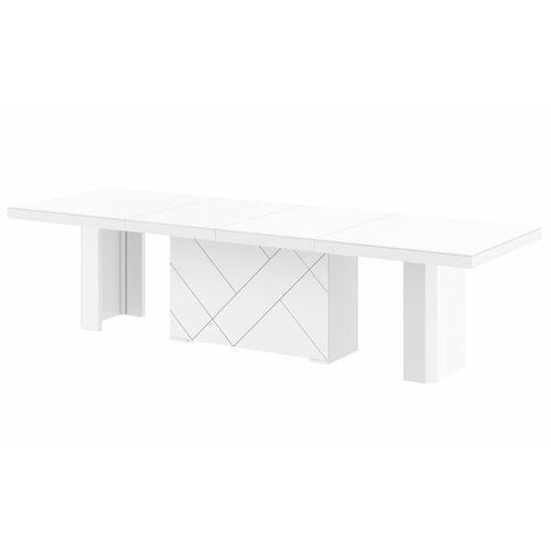 Stół kolos max 180-468 biały mat marki Hubertus