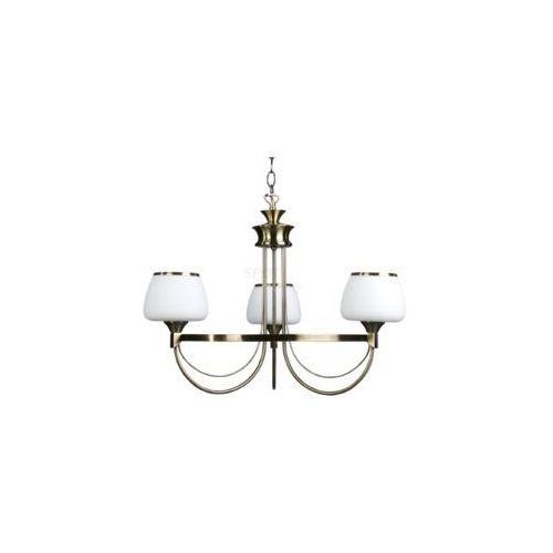 RONDA 5106311 LAMPA WISZĄCA ABAŻUR SPOT LIGHT ** RABATY w sklepie **, kolor patyna/biały