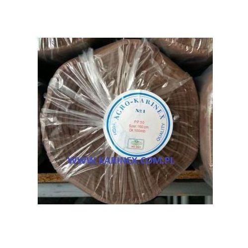 Agrowółknina ściółkujaca PP 50 g/m2 brązowa 1,6 x 100 mb. BEZ UV. Rolka o wadze 8,6 kg., PP 50/160/100/BRĄZOWA rolka. BEZ UV.