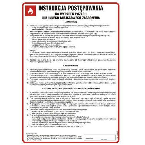 Instrukcja postępowania na wypadek pożaru lub innego miejscowego zagrożenia marki Top design