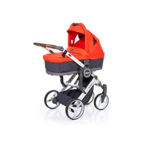 Abc design wózek dziecięcy mamba plus street-flame, stelaż silver / siedzisko street (4045875038228)