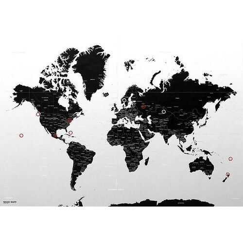 Dekoracja ścienna magic map 100 x 140 cm (8051122020959)