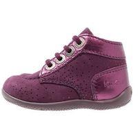 Kickers BONBON Obuwie do nauki chodzenia violet fonce metallique (3612885391486)