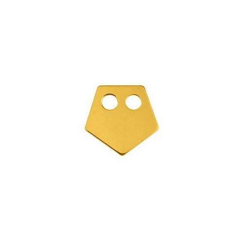 Blaszka Celebrytka Pięciokąt, złoto próba 585, BL 142-AU