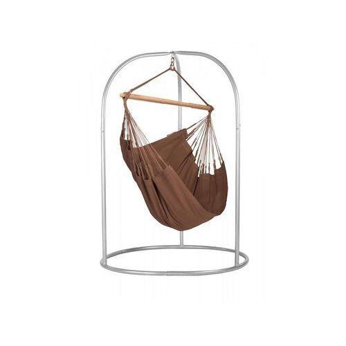 La siesta Zestaw hamakowy: fotel hamakowy modesta ze stojakiem romano, brązowy moc14roa16