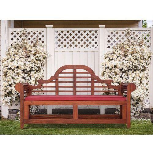 Ławka ogrodowa drewniana 180 cm poducha ceglasta TOSCANA Marlboro (4260586359664)