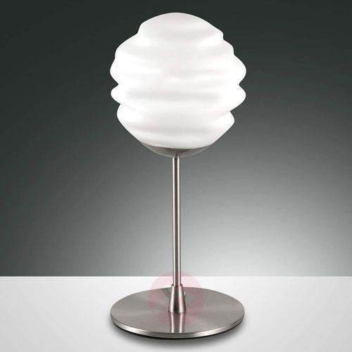 Ava – ozdobna lampa stołowa ze szklanym kloszem