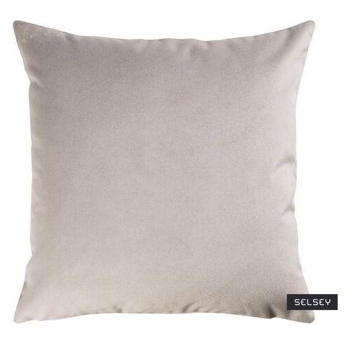 Selsey poduszka dekoracyjna sylvanca w tkaninie easy clean 45x45 cm jasnoszara marki Fargotex