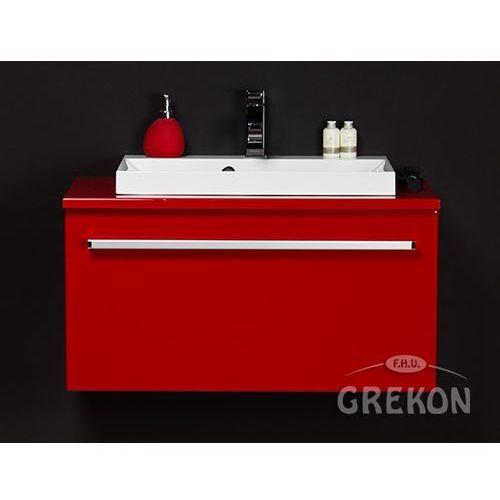 Gante Czerwona szafka wisząca z umywalką 80/39 fks seria fokus cz