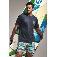 Bawełniana piżama męska 326/88 surfer 2 grafitowa, Cornette