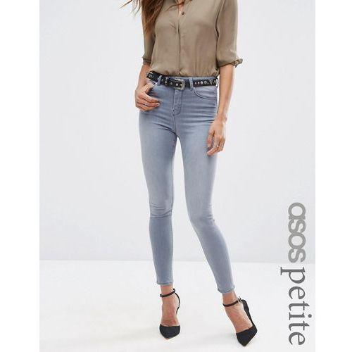 ASOS PETITE Ridley Skinny Jeans in Steel Grey - Grey