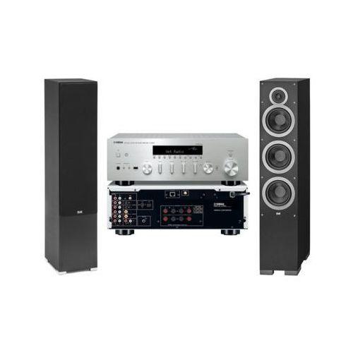Zestaw stereo YAMAHA R-N602 + ELAC Debut F6.2 Czarny DARMOWY TRANSPORT