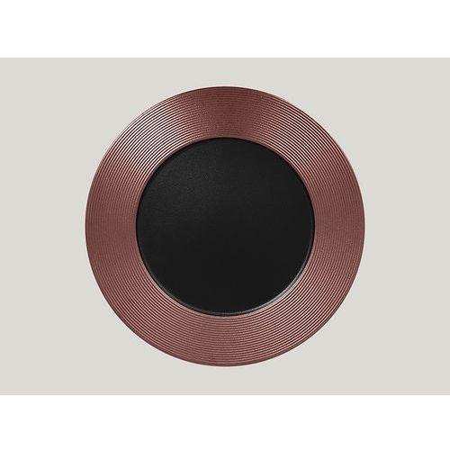 Talerz płaski tłoczony 330 mm, brązowy | RAK, Metalfusion