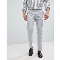 River Island Skinny Smart Trousers In Light Grey - Grey, kolor szary