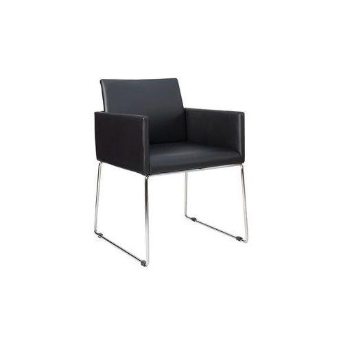 Krzesło porto z podłokietnikami - czarny marki Interior