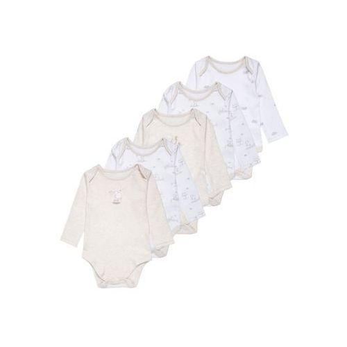 mothercare UNISEX MY FIRST LITTLE LAMB 5 PACK Body white/nude, kolor biały