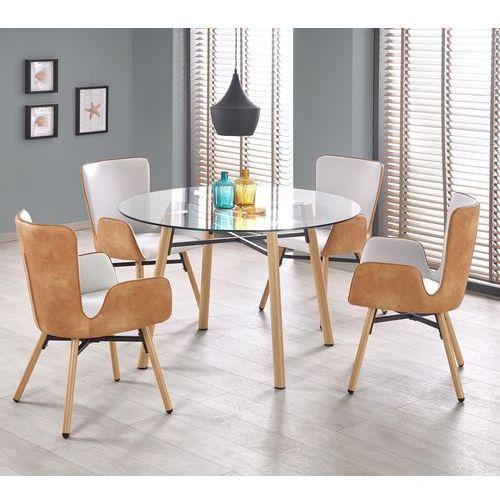 Halmar Okrągły stół ze szklanym blatem yukon