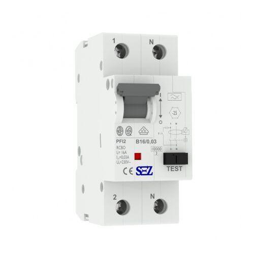 B16a 30ma 2p 10ka typ a wyłącznik różnicowoprądowy z członem nadprąd rcbo sez 0219 marki Pce