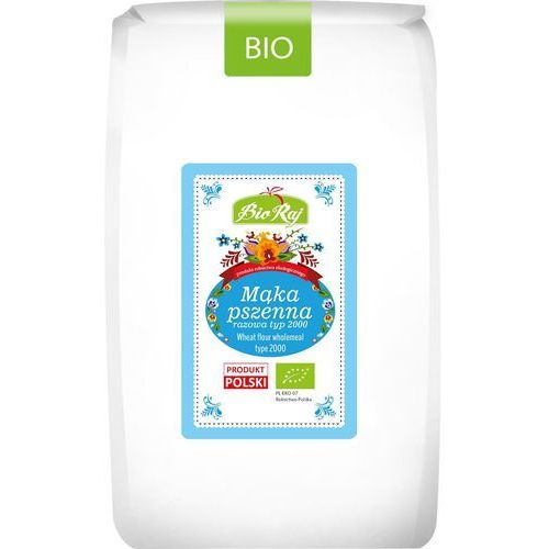 Bio raj (konfekcjonowane) Mąka pszenna razowa typ 2000 bio 1 kg - bio raj (5902983787860)