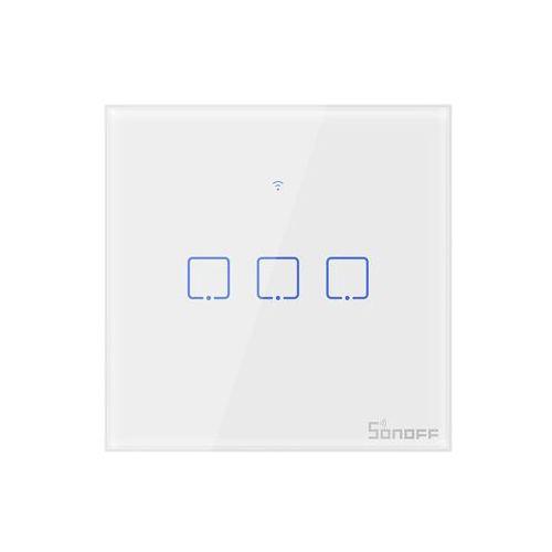 Sonoff Dotykowy włącznik światła wifi+rf 433mhz biały t1eu1c-tx