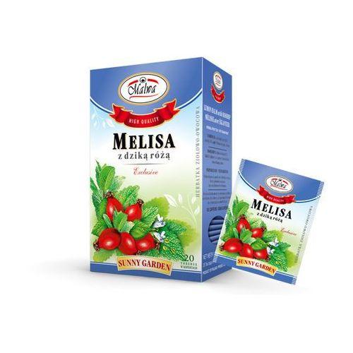 Malwa tea Malwa sunny garden herbata melisa z dziką różą 20t