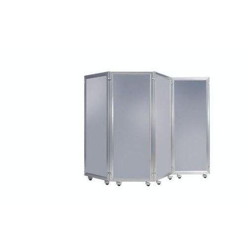 System parawanów, element z płytą dekoracyjną, wys. x szer. 1800x600 mm, alumini