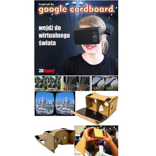 3d expert Okulary wirtualnej rzeczywistości 3d cardboard + pasek + nfc