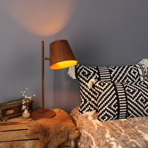 Eco-light Lampa stołowa colt, 1-punktowa, szlachetna rdza