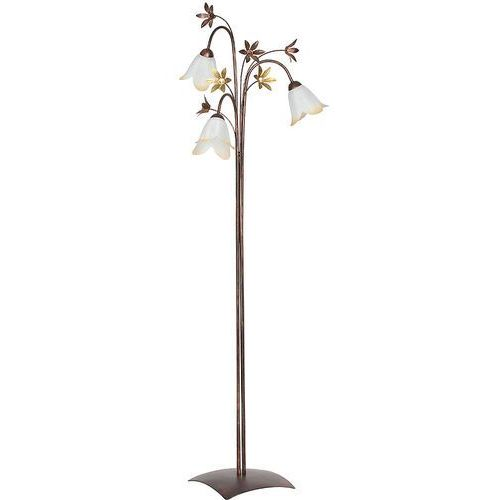 Lampa podłogowa stojąca oprawa Luminex Melody 3x60W E27 złoty/brązowy/biały/brzoskwiniowy 3796 (5907565937961)