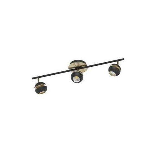 K inkiet Eglo Nocito 95484 lampa oprawa ścienna 3x3,3W LED czarny złoty