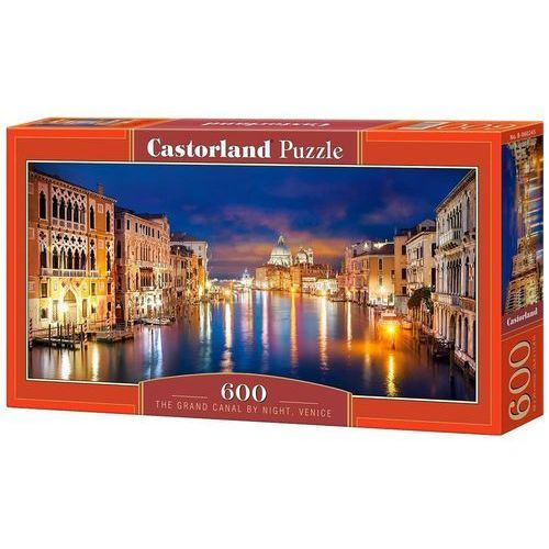Castor Puzzle 600 panoramiczne:the grand canal by night, venice