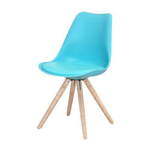 Krzesło CLARA, turkusowe, naturalne, tworzywo sztuczne, 22165-6