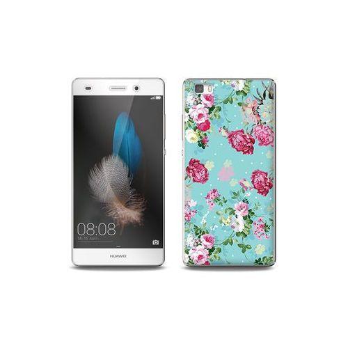 Huawei P8 Lite - etui na telefon Full Body Slim Fantastic - różyczki na miętowym tle