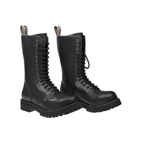 Glany STEEL 15-tki 136/O XXL Czarne 15-dziurek - Czarny, kolor czarny
