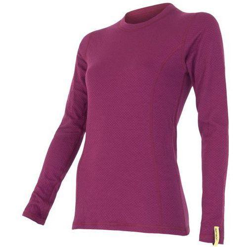 Sensor koszulka termoaktywna z długim rękawem double face merino wool w lila xl (8592837017655)