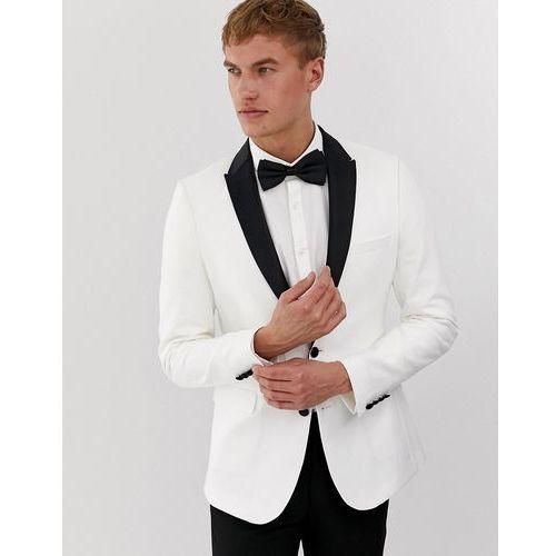 6aa5542967098 Marynarki męskie · Asos design super skinny tuxedo suit jacket in white  with black lapel - white