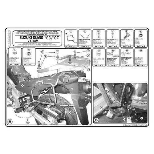 Stelaż pod kufry boczne monokey do suzuki v-strom dl650 [04-11] - pl532 (zgodny z kappa kl532) marki Givi