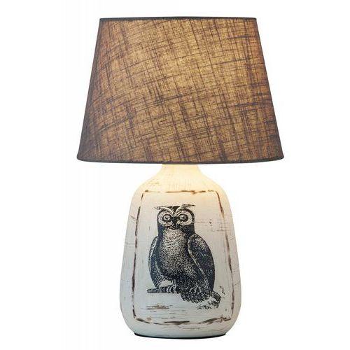 Lampa lampka stołowa Rabalux Dora 1x40W E27 biały/szary 4373, 4373
