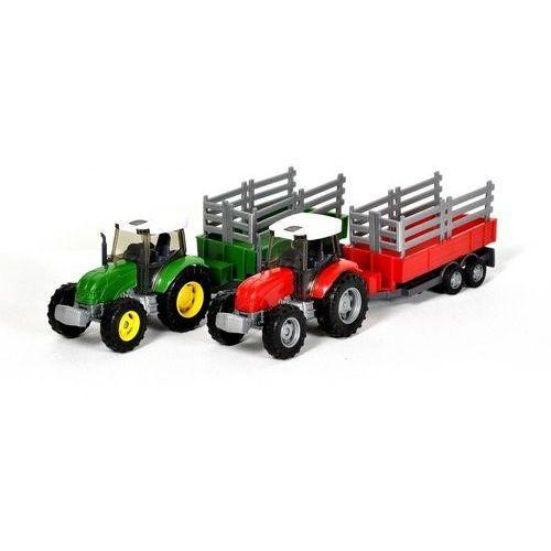 Teama traktor + naczepa 1:31 ver.1 zielony, 001-10762ZIELONY
