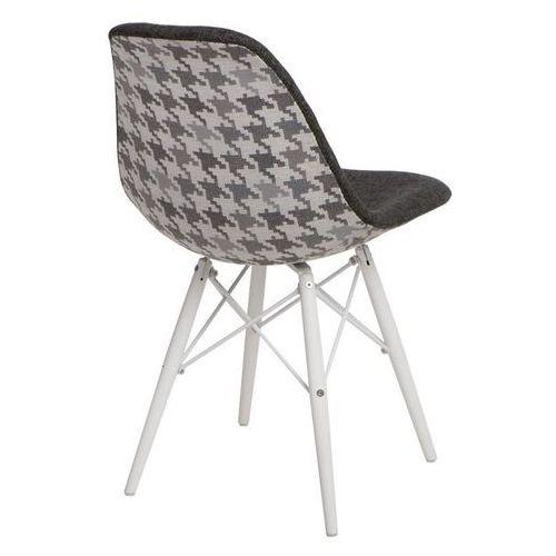 Krzesło P016W Pattern inspirowane DSW white - szary, d2-5011