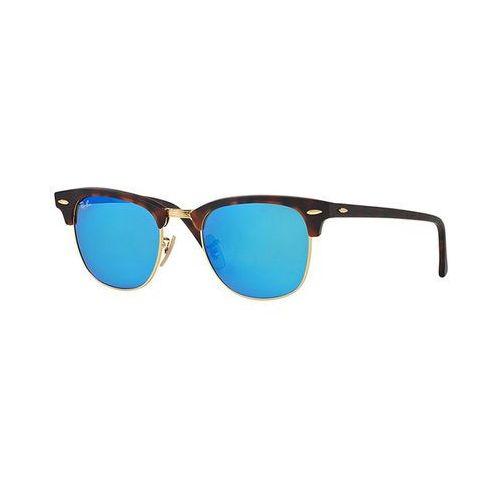 Ray-ban Rayban clubmaster okulary przeciwsłoneczne brown/blue (8053672226973)