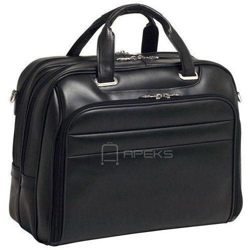 """springfield skórzana torba na ramię na laptopa 17"""" - czarny marki Mcklein"""
